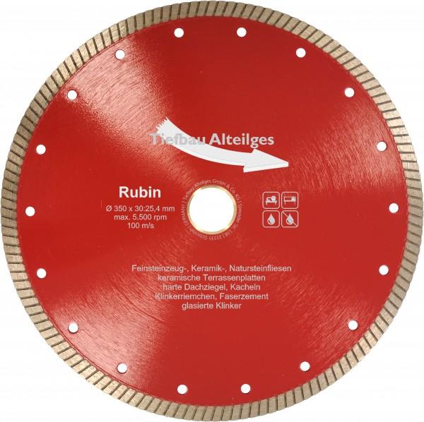 Diamant Trennscheibe RUBIN 350 mm