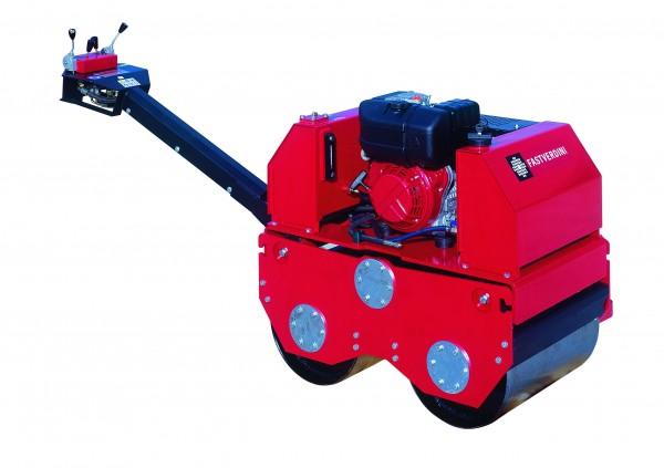Tandem Vibrationswalze ROM 600 Lombardini Dieselmotor Seilzug