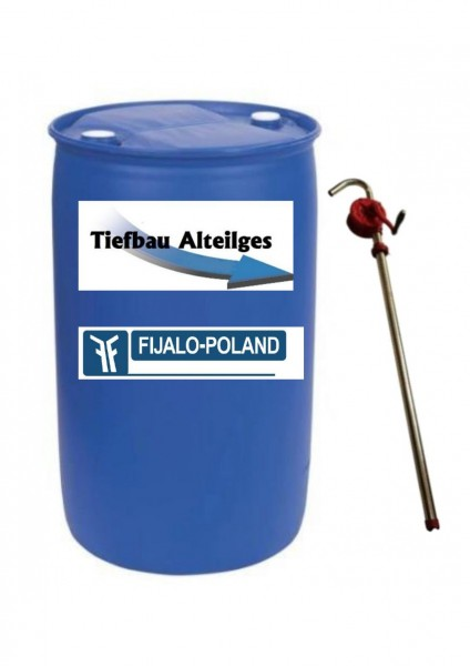 Luftdrucköl 200l Fass mit Pumpe