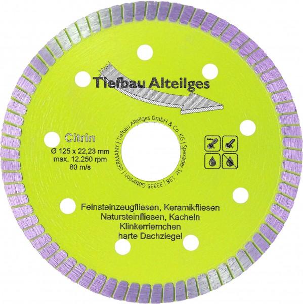 Diamant Trennscheibe CITRIN 125 mm